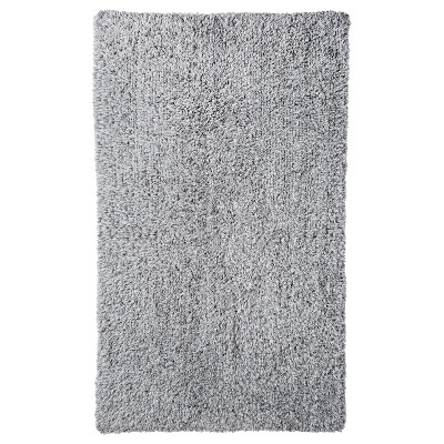Heathered Reversible Bath Rug Gray (20x34 )- Threshold™