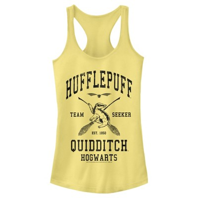 Junior's Harry Potter Quidditch Hufflepuff Team Seeker Racerback Tank Top