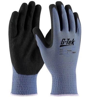 G-Tek GP Nitrile Gloves Blue Dozen (34-500/L)