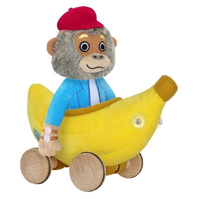 "Yottoy Bananas Gorilla Soft Toy 7.5"" with Bananamobile 8"""