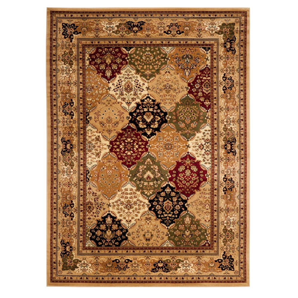 Floral Loomed Area Rug 9 39 X12 39 Ivory Red Safavieh