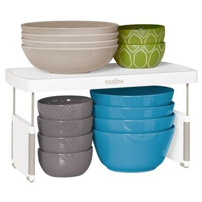 Kitchen cabinet organizer Adjustable Shelf Riser 13  White - YouCopia