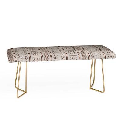 Little Arrow Design Co Rustic Stone Mudcloth Geometric Bench - Deny Designs