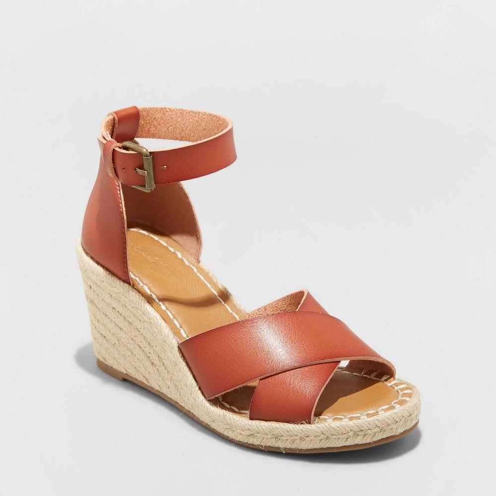 Women 39 S Ellie Espadrille Wedge Heels Universal Thread 8482 Brown 5