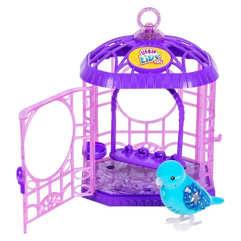 Little Live Pets™ Tweet Talking Bird with Cage - Starflake - image 1 of 4