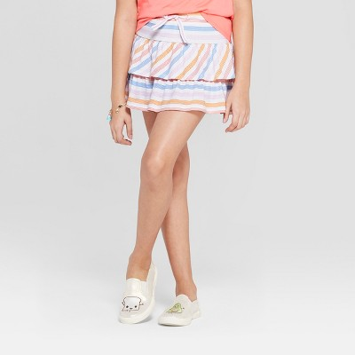 495d7afaf4997 Girls  Knit Scooter Skirt Stripe Print- Cat   Jack™ White