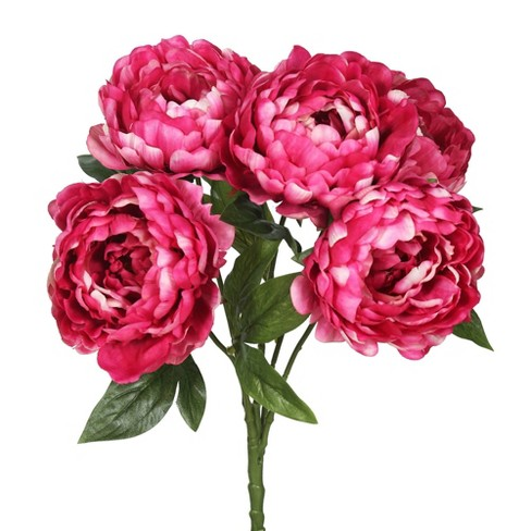 Artificial Peony Bunch Hot Pink - Vickerman - image 1 of 2