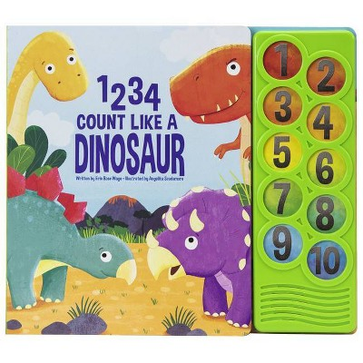 1 2 3 4 Count Like a Dinosaur - (Play-A-Sound) by  Erin Rose Wage (Board Book)