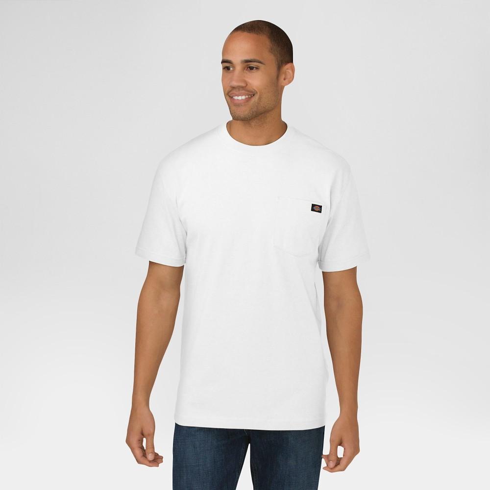 Dickies Men's Cotton Heavyweight Short Sleeve Pocket T-Shirt- White Xxl