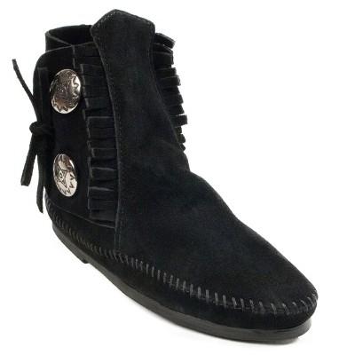 Minnetonka Women's Suede Two Button Hardsole Boot