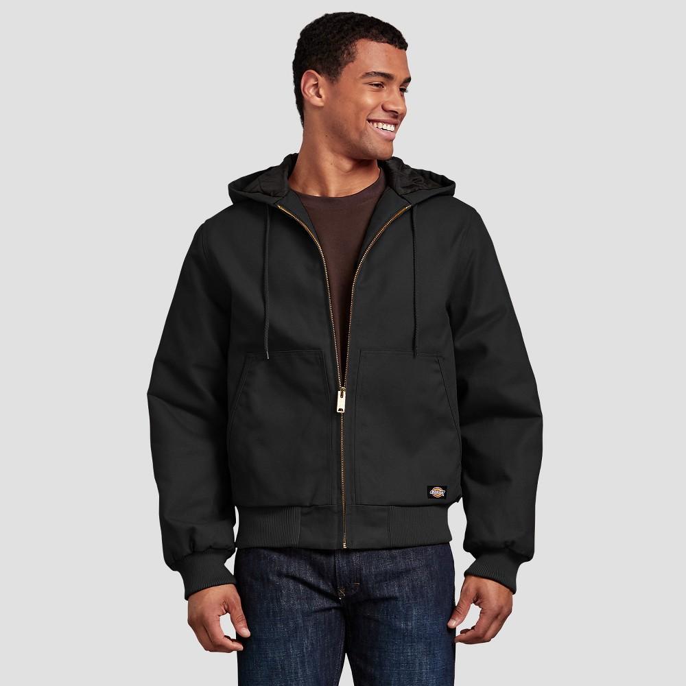 Dickies Men's Tall Long Sleeve Duck Jackets - Black 2XLT
