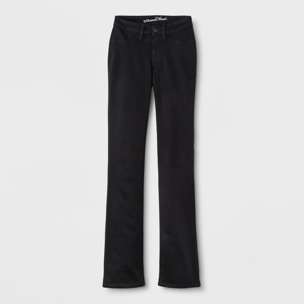 Women's Adaptive Bootcut Jeans - Universal Thread Black Wash 00
