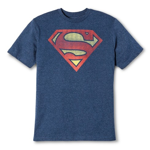 e8e2bc20c2c Men s Big   Tall Superman Shield T-Shirt Blue   Target