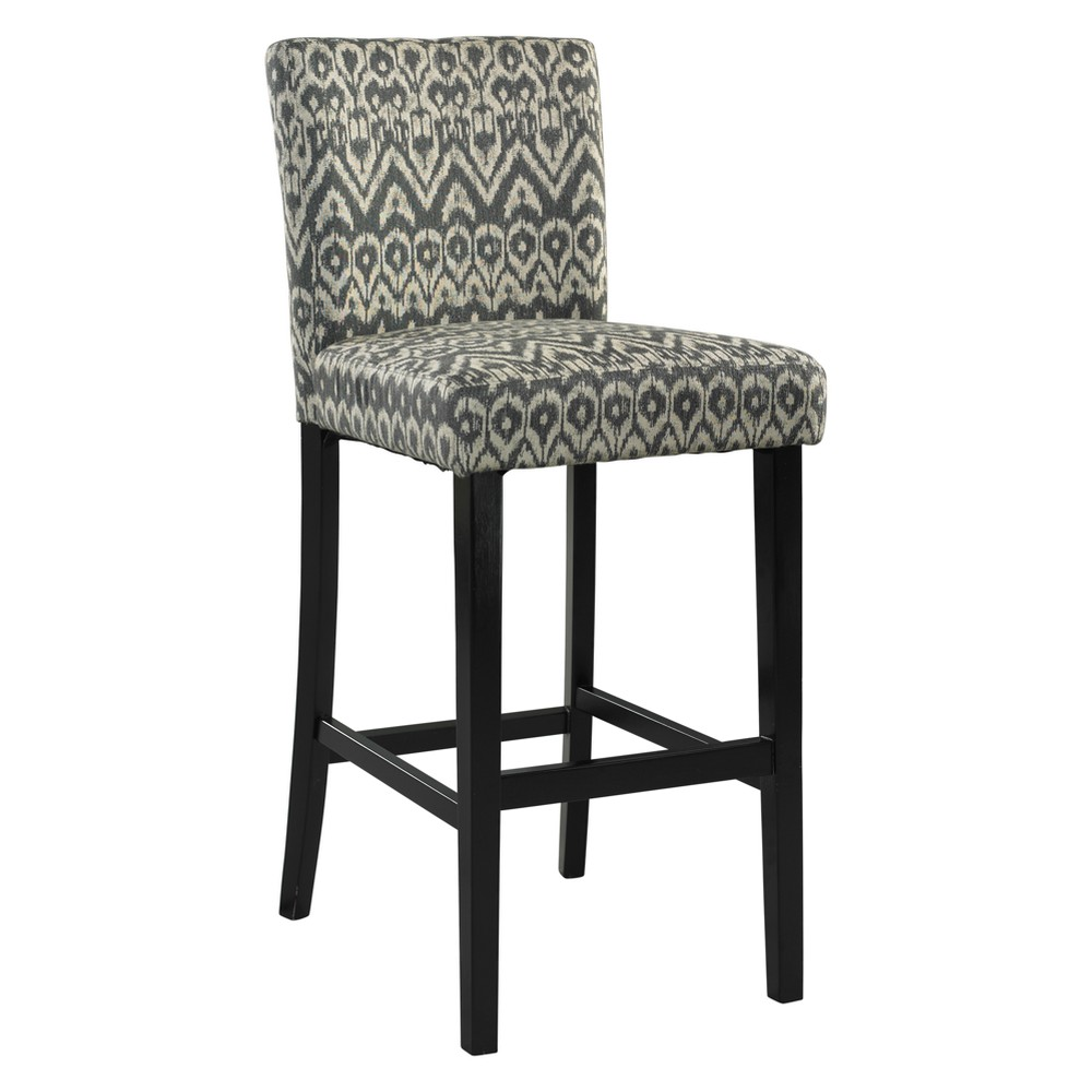 24 Morocco Upholstered Counter Stool - Driftwood Gray - Linon