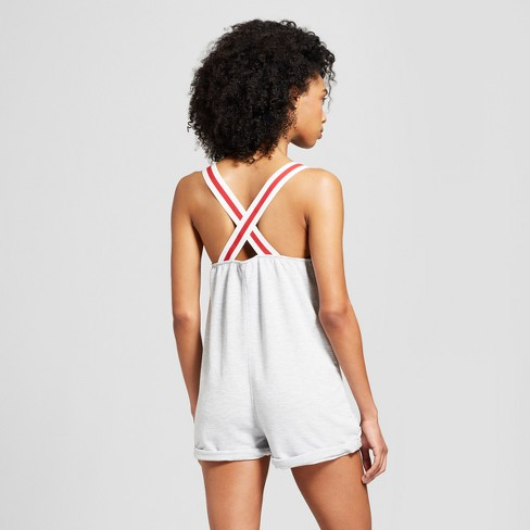 d1bc3ccc5c92 Weekend Soul Women s Reversible Sequence American Flag Sleep Romper -  Heather Gray   Target