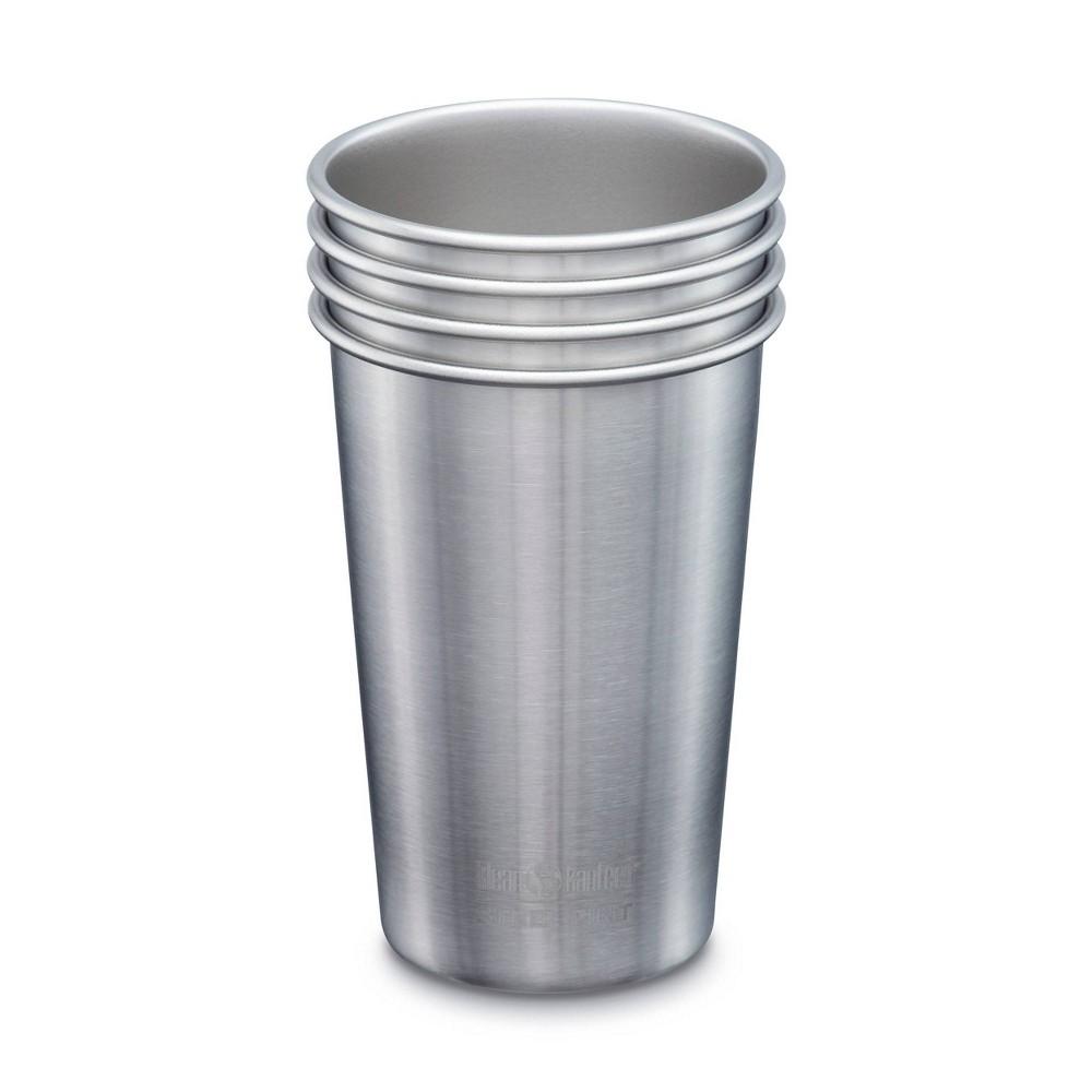 Klean Kanteen 16oz Stainless Steel Pint 4pk Silver