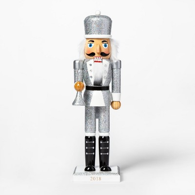 Decorative Figurine Nutcracker - Silver - Wondershop™