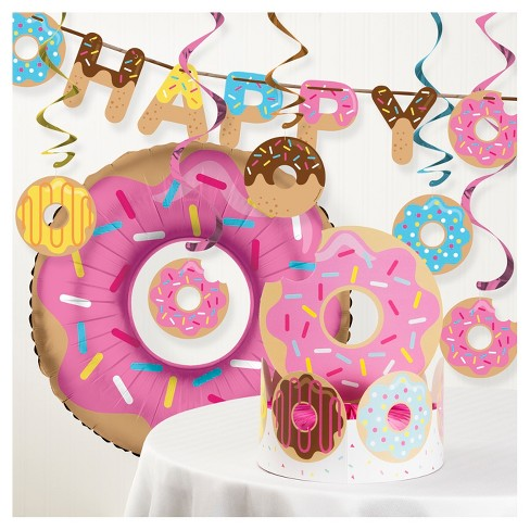 Donut Time Birthday Party Decorations Kit Target