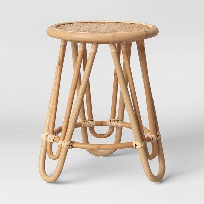 Tenella Round Rattan End Table Natural - Opalhouse™ designed with Jungalow™
