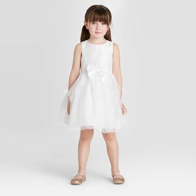 Zenzi Toddler Girls' Glitter Tulle Flower Girl Dress - Off-White