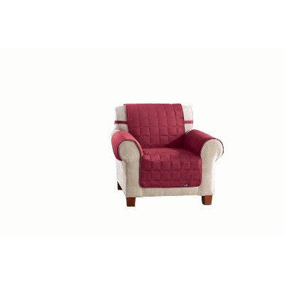 Burgundy Soft Suede Waterproof Chair Furniture Cover - Sure Fit