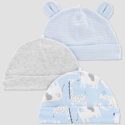 Baby Boys' 3pk Caps - Just One You® made by carter's Sky Blue
