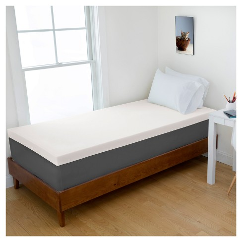 "4"" Memory Foam Dorm Mattress Topper - Authentic Comfort® - image 1 of 7"