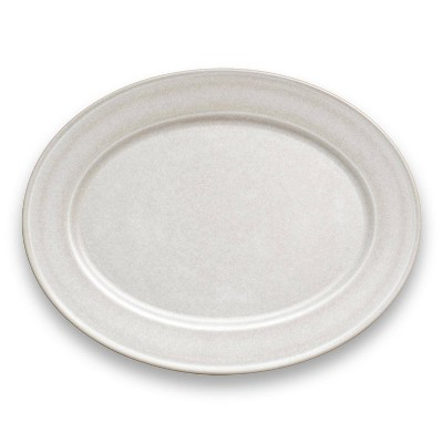"17"" x 13"" Melamine and Bamboo Serving Platter White - Threshold™"