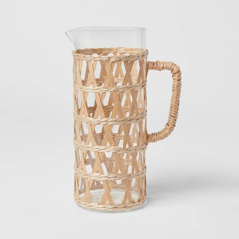 64oz Glass Natural Wrap Beverage Pitcher - Opalhouse™ - image 1 of 4