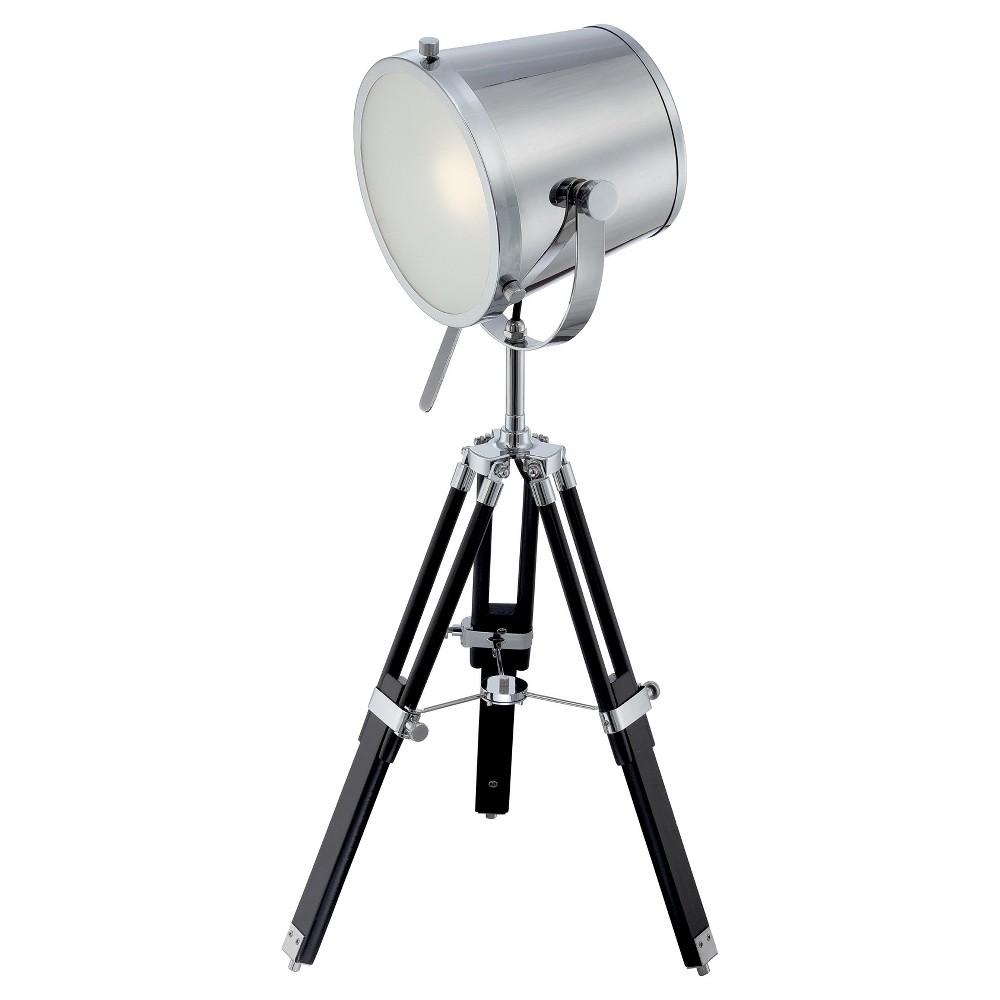 Lite Source Tripod Table Lamp, Medium Silver