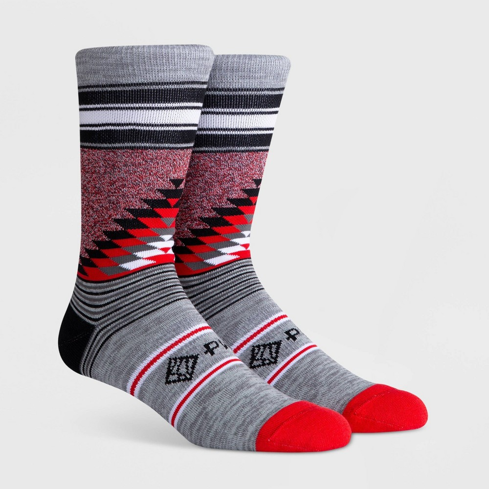 Image of PKWY Men's Crew Socks - Red L, Men's, Size: Small