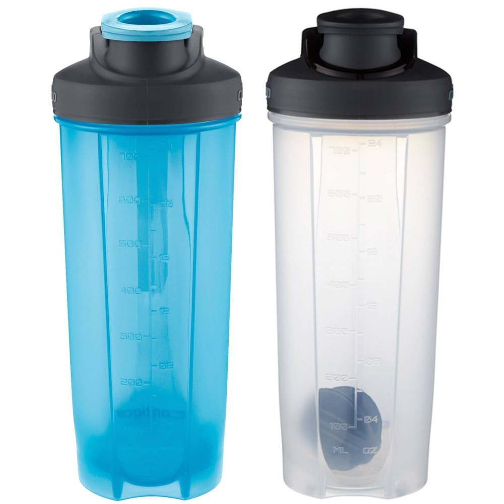 Image of Contigo 28oz 2pk Plastic Shake & Go Fit Bottle Blue/Black