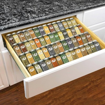 Lynk Professional Expandable 4 Tier Heavy Gauge Steel Drawer Spice Rack Tray Organizer