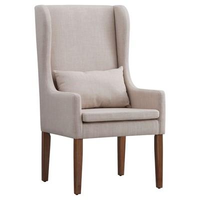 Walton Park Wingback Hostess Chair - Oatmeal - Inspire Q