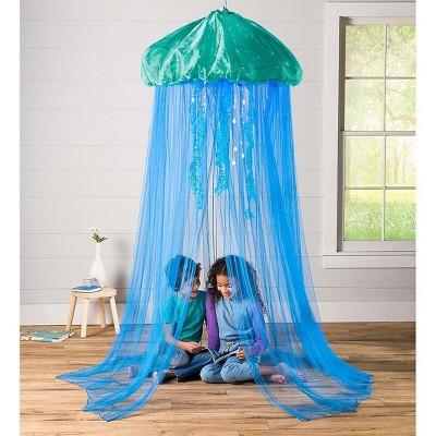 HearthSong - Aquaglow Jellyfish Hideaway - Bed Canopy For Kids Indoor Imaginative Play : Target