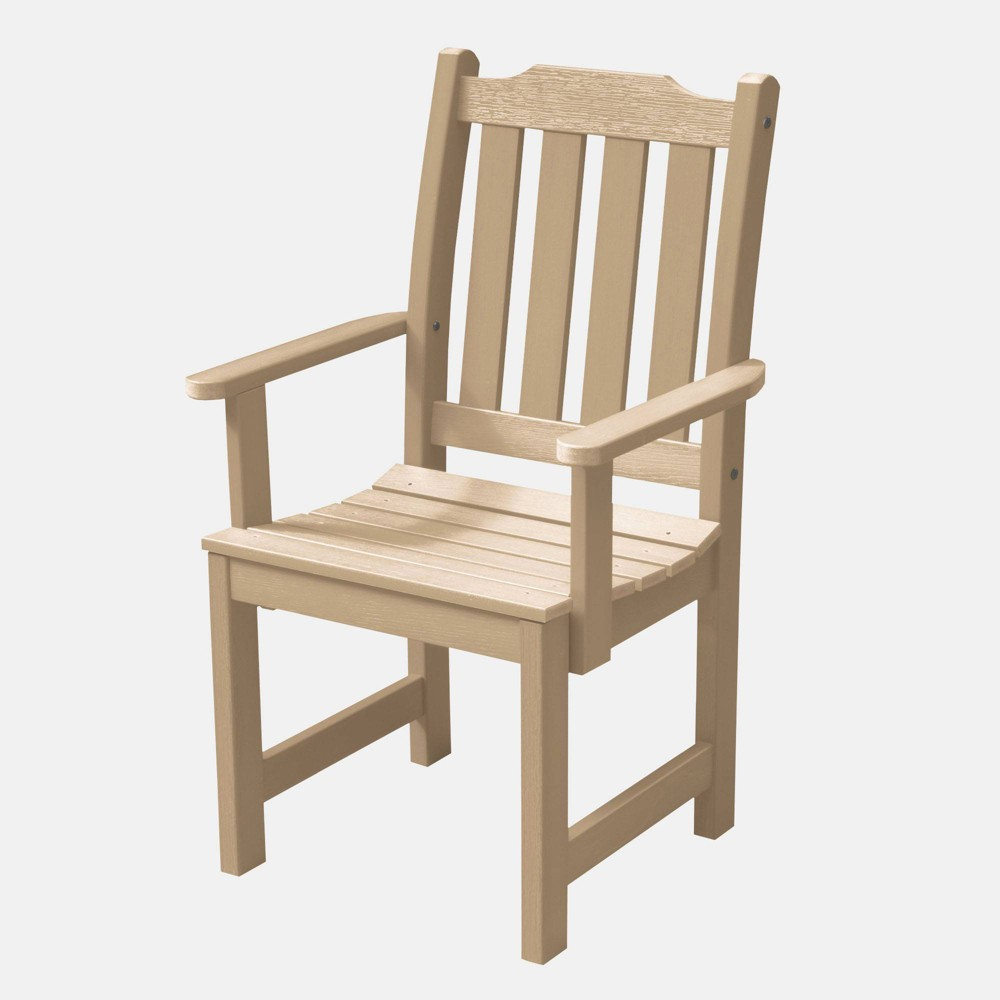Image of Lehigh Patio Dining Armchair Tuscan Taupe - Highwood