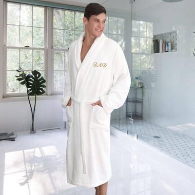 Dad Bathrobe White - Linum Home Textiles