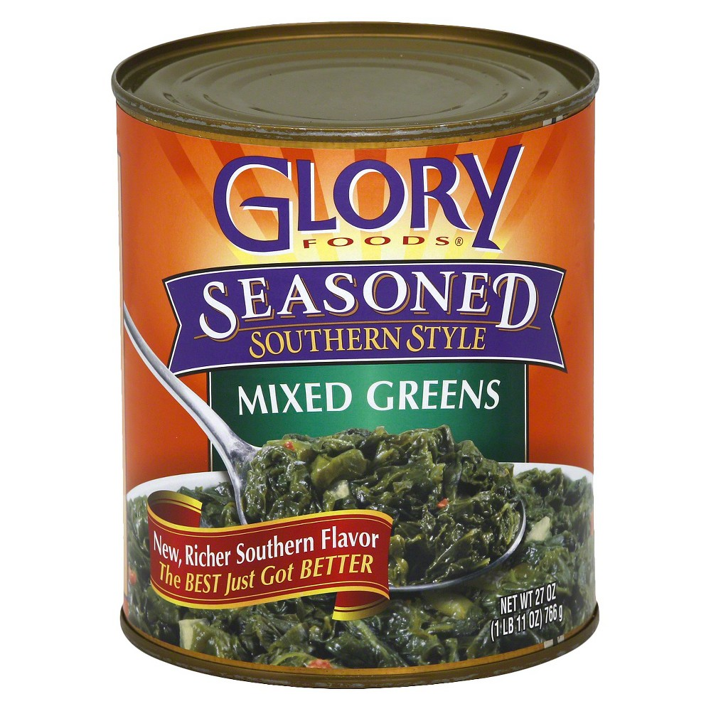Glory Foods Seasoned Southern Style Mixed Greens 27oz