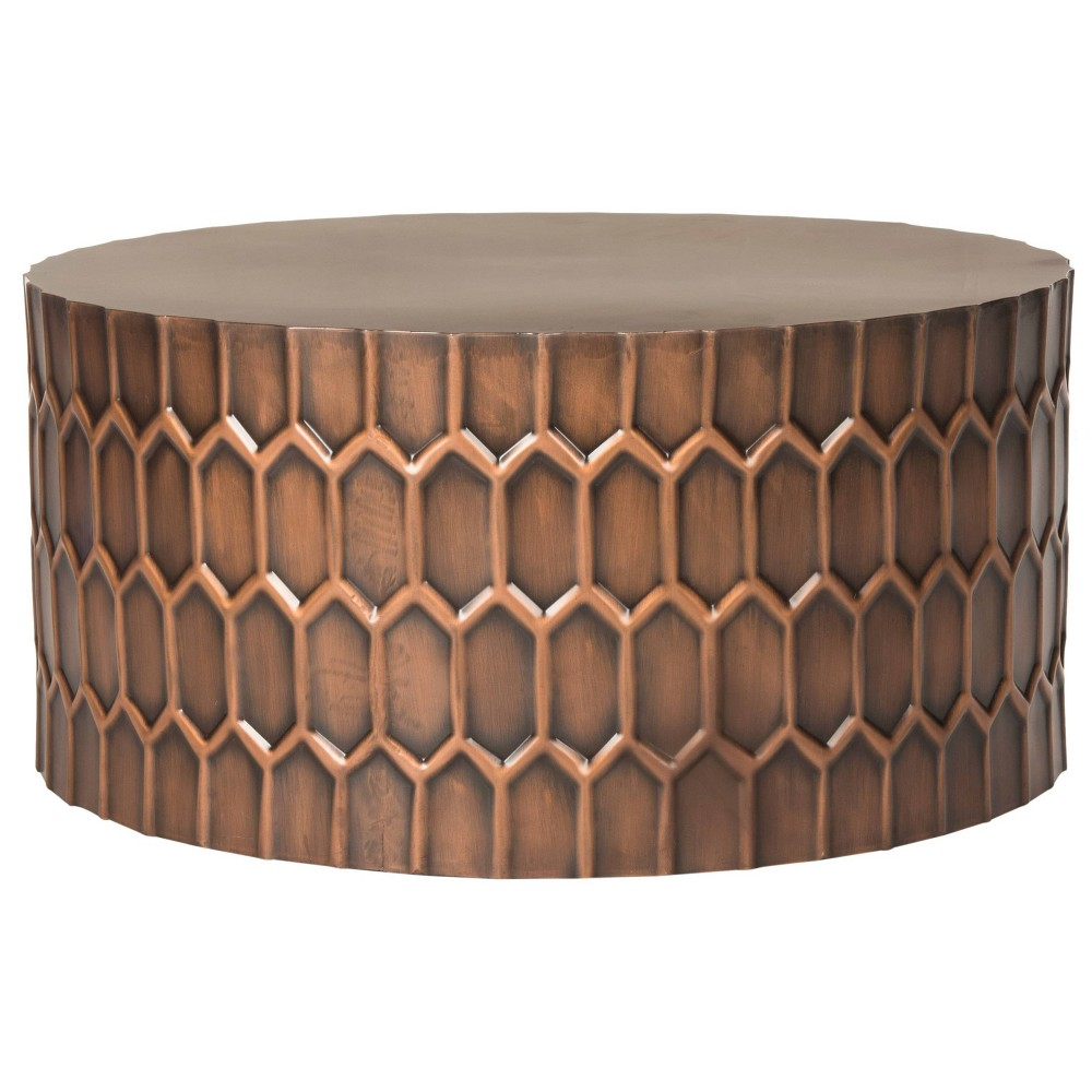 Cresswell Coffee Table Antique Copper (Large) - Safavieh