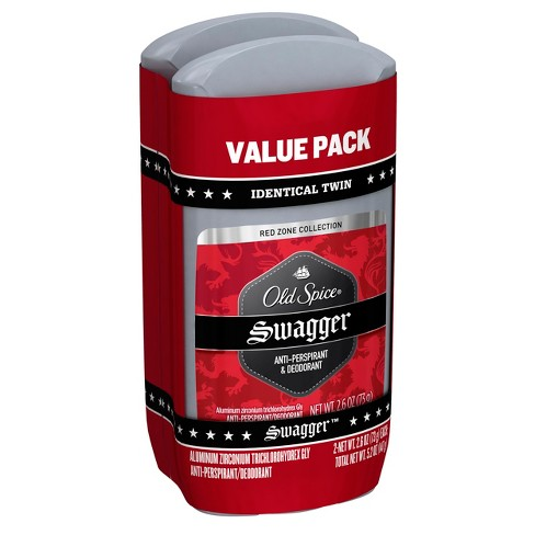Old Spice Red Zone Invisible Solid Swagger Antiperspirant and Deodorant Twin Pack - 5.2oz - image 1 of 3