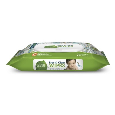 Seventh Generation Free & Clear Baby Wipes Travel Pack - 30ct