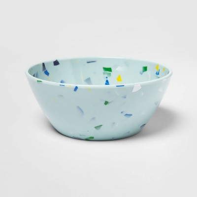 25.7oz Melamine Mixed Shapes Dinner Bowl Blue - Room Essentials™