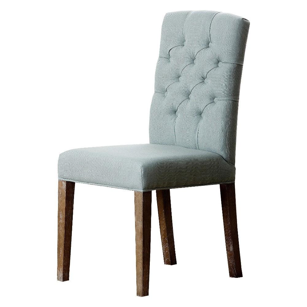 Larissa Tufted Linen Dining Chair Light Blue - Abbyson Living