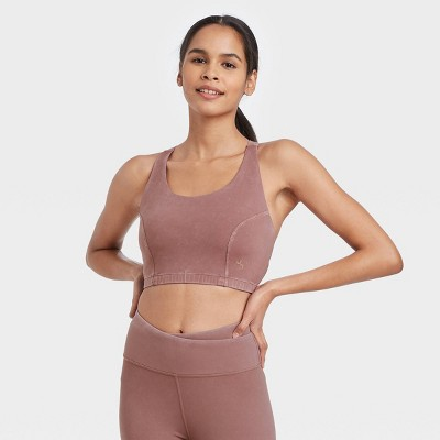 Women's Longline Bra with Twisted Strappy Back - JoyLab™