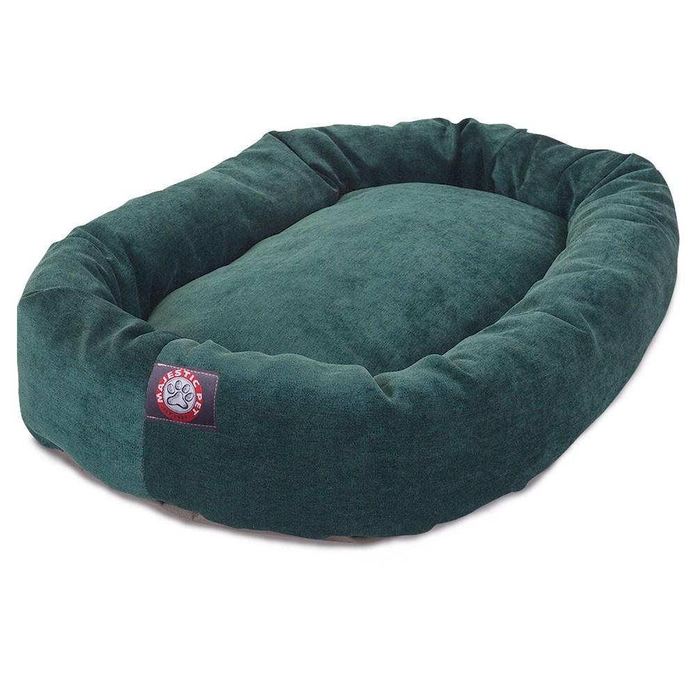 Majestic Pet Villa Bagel Dog Bed - Marine Green - X-Large