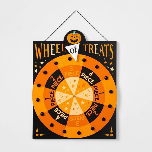 Halloween Carnival Wheel of Treats Spinning Wooden Sign - Hyde & EEK! Boutique™ - image 1 of 1