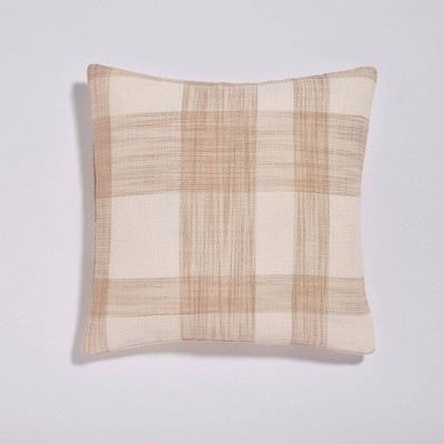 """18""""x18"""" Walma Bold Plaid Throw Pillow Taupe - Sure Fit"""