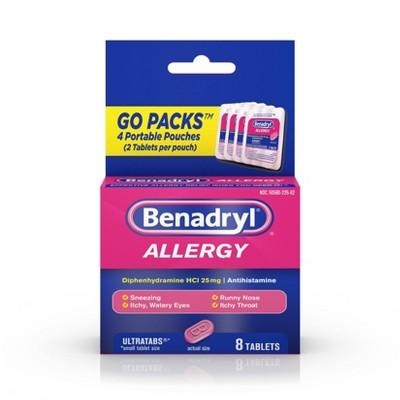 Benadryl Allergy Diphenhydramine UltraTab Antihistamine Tablet - 8ct