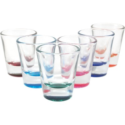 Anchor Hocking Assorted Colors 1 Ounce Shot Glass, Set of 6