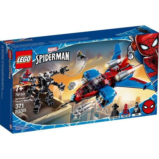 LEGO Marvel Spider-Man Spider-Jet vs Venom Mech LEGO Superhero Set 76150 image number null